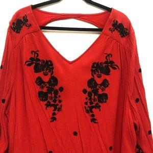 Denim 24/7 Tops - Denim 24/7 Embroidered Boho Tunic